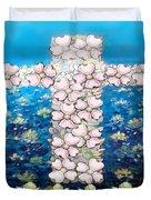 Cross Of Flowers Duvet Cover