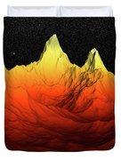 Sci Fi Mountains Landscape Duvet Cover