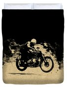 The Vintage Motorcycle Racer Duvet Cover