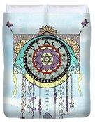 Peace Kite Dangle Illustration Art Duvet Cover