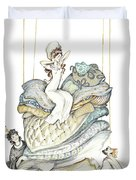 The Princess And The Pea, Illustration For Classic Fairy Tale Duvet Cover
