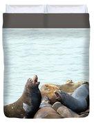 Boisterous Pinnipeds Duvet Cover