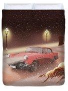 Winter Romance Duvet Cover