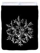 Snowflake Vector - Gardener's Dream Black Version Duvet Cover