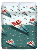 180 Mad Paper Airplanes Duvet Cover
