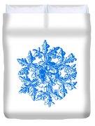 Snowflake Vector - Gardener's Dream White Version Duvet Cover