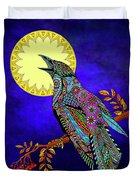 Electric Crow Duvet Cover