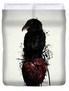 Raven And Heart Grenade Duvet Cover