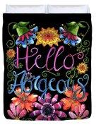 Hello Gorgeous Black  Duvet Cover