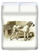 Vintage Sepia German Shorthaired Pointer Duvet Cover