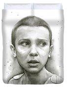 Stranger Things Eleven Upside Down Art Portrait Duvet Cover