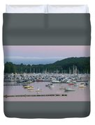 Sunrise Over Mallets Bay Panorama - Two Duvet Cover