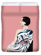 Louise Brooks In Hollywood Duvet Cover