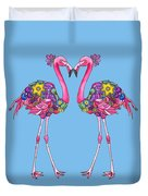 Fancy Felicity Flamingo Duvet Cover