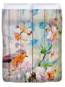Spring On Wood 06 Duvet Cover