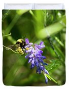 Bumblebee On A Blue Giant Hyssop Duvet Cover