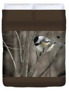 Chickadee Close Up Duvet Cover
