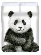 Baby Panda Watercolor Duvet Cover