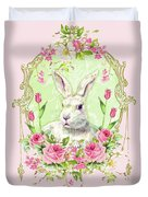 Spring Bunny Duvet Cover by Wendy Paula Patterson