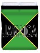 Flag Of Jamaica Word Duvet Cover