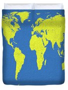 Abstract World Map 0317 Duvet Cover