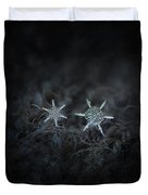 Snowflake Photo - When Winters Meets Duvet Cover by Alexey Kljatov