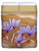 Saffron Flowers Duvet Cover