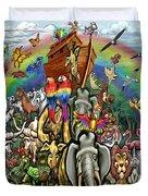 Noah's Ark Duvet Cover by Kevin Middleton