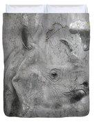 The Beautiful Rhino Duvet Cover
