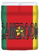 Flag Of Cameroon Word. Duvet Cover