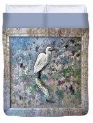 Silver Lake Snowy Egret Duvet Cover