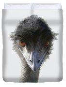 Suspicious Emu Stare Duvet Cover