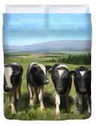 Curious Cows Duvet Cover by Ivana Westin