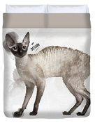 Cute Cornish Rex Youngster Duvet Cover