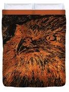 Eagle Metallic Copper Duvet Cover