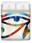 Eye Of Horus - By Sharon Cummings Duvet Cover