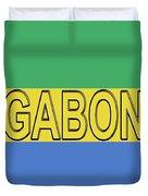 Flag Of Gabon Word. Duvet Cover