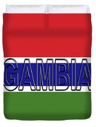 Flag Of The Gambia Word. Duvet Cover