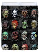 16 Horror Movie Monsters Vintage Style Classic Horror Movies  Duvet Cover
