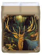 Elk Painting - Autumn Majesty Duvet Cover