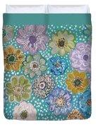 Pastel Floral Garden Duvet Cover