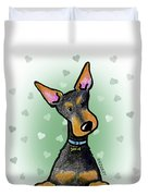 Dobie With Love Duvet Cover