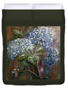 Hydrangea Bouquet At Dawn Duvet Cover