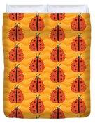 Orange Ladybug Masked As Autumn Leaf Duvet Cover