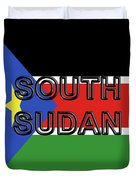 Flag Of  South Sudan Word Duvet Cover