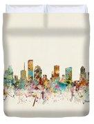 Houston Texas Skyline Duvet Cover
