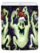 Ghostly Christmas Trio Duvet Cover