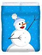 Cute Happy Snowman Duvet Cover