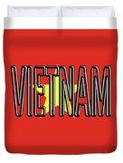 Flag Of Vietnam Word Duvet Cover