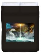 The Universe Of Dragons Duvet Cover